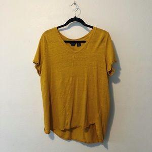 Tahari | Mustard Yellow V Neck